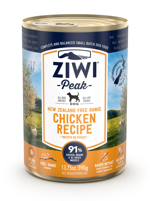 Ziwi Peak Canned Chicken Dog Food 390g x 12