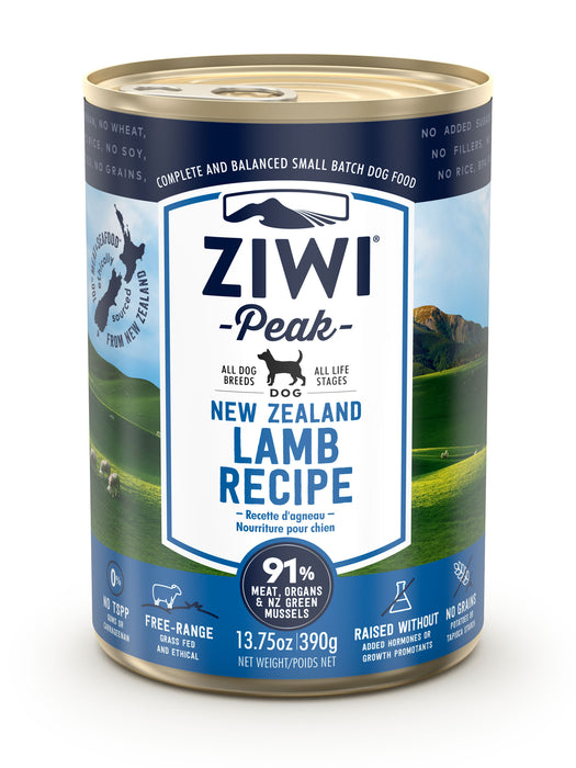 Ziwi Peak Canned Lamb Dog Food 390g x 12