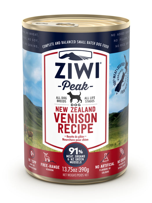 Ziwi Peak Canned Venison Dog Food 390g x 12