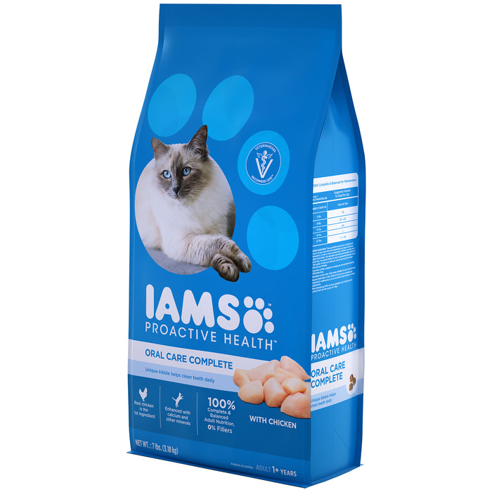 IAMS Proactive Health Adult Cat Oral Care Complete Chicken 3.18kg