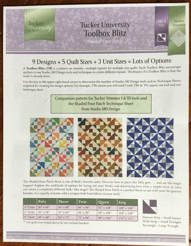 Shaded Four Patch Toolbox Blitz  Wholesale
