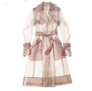 """Come Thru"" Vintage Transparent Trench Coat"