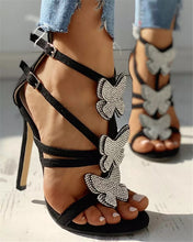 """Mariposa"" Butterfly Bling Sandals"