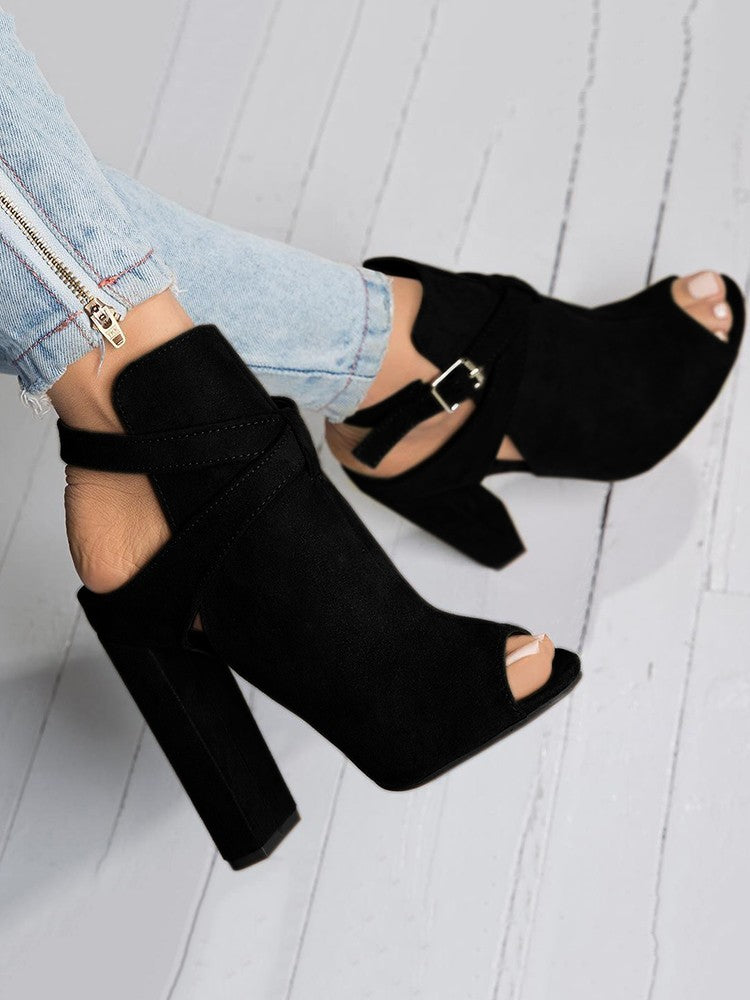 """Remy"" Suede Open Toe Sandals"