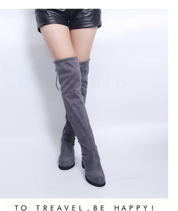 """Vittles"" Faux Suede Over-the-Knee Boots"