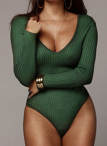 """Balance"" Long Sleeve Ribbed Bodysuit"
