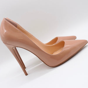"""Kimye"" Nude Patent Leather Pumps"