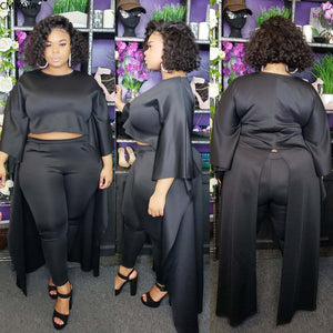 """Tux"" 2pc Hi-Low Pants Set"
