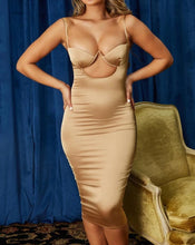 """Feu"" Sexy Satin Bodycon"