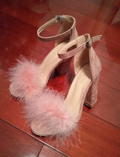 """Involved"" Ankle Strap Fur Sandals"