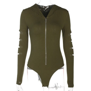 """Su Casa"" Hooded Bodysuit"