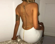 Backless Satin Chain Mini