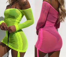 """Venus"" Neon Mesh Cover-Up"