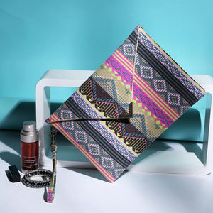 """Wakanda"" Envelope Clutch"