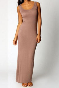 """Slim Gem"" Tank Maxi Dress"