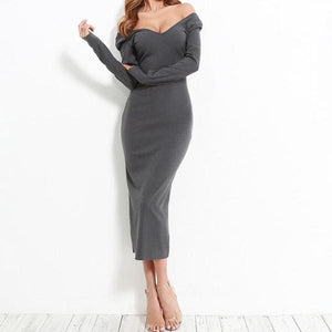 """Emmy"" Ribbed Midi Dress"
