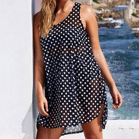 Sheer Polka Dot Cover Up