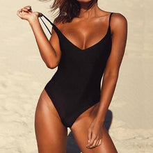 Sexy Solid One Piece Swimsuit
