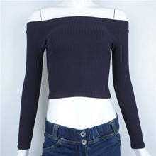 Ribbed Long Sleeve Crop