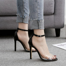 """Love Spell"" Transparent Open Toe Ankle Strap Sandals"