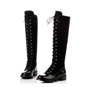 """Jinete"" Tie-Up Knee High Boots"