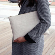 """Croc"" Envelope Clutch"