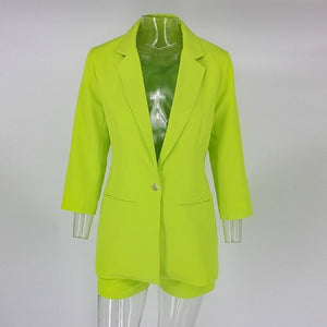 """Raylee"" 2pc Blazer & Shorts Set"