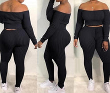 """Oui Oui"" Off-Shoulder 2pc Leggings Set"