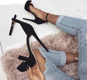 """Trouble"" Platform Ankle Strap Sandals"