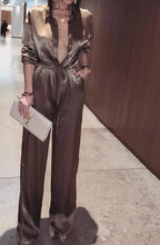"""Desire"" Satin Long Sleeve Jumpsuit"
