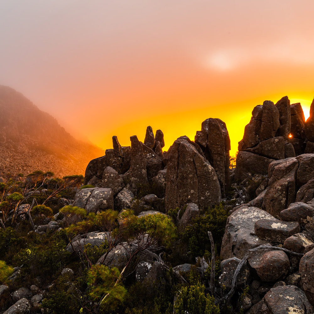 Sunrise at Mount Wellington. By Geoff Murray