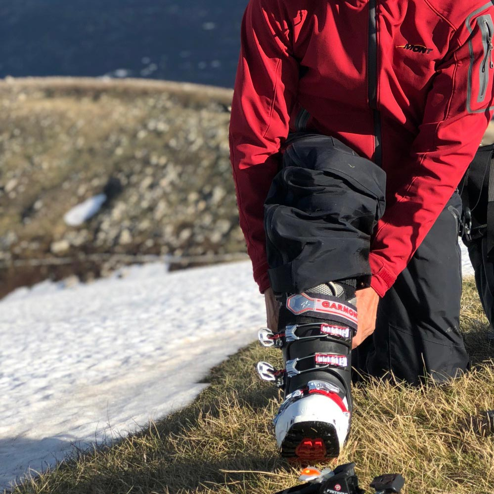 Because backcountry ski boots are made to be much lighter than downhill ski boots without compromising performance or durability, backcountry ski boots use far more advanced materials including carbon fibre, Grillamid & Pebax.