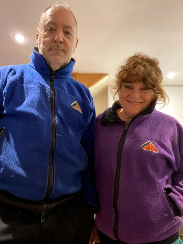 Peter and Connie in their beloved Mont fleece jackets