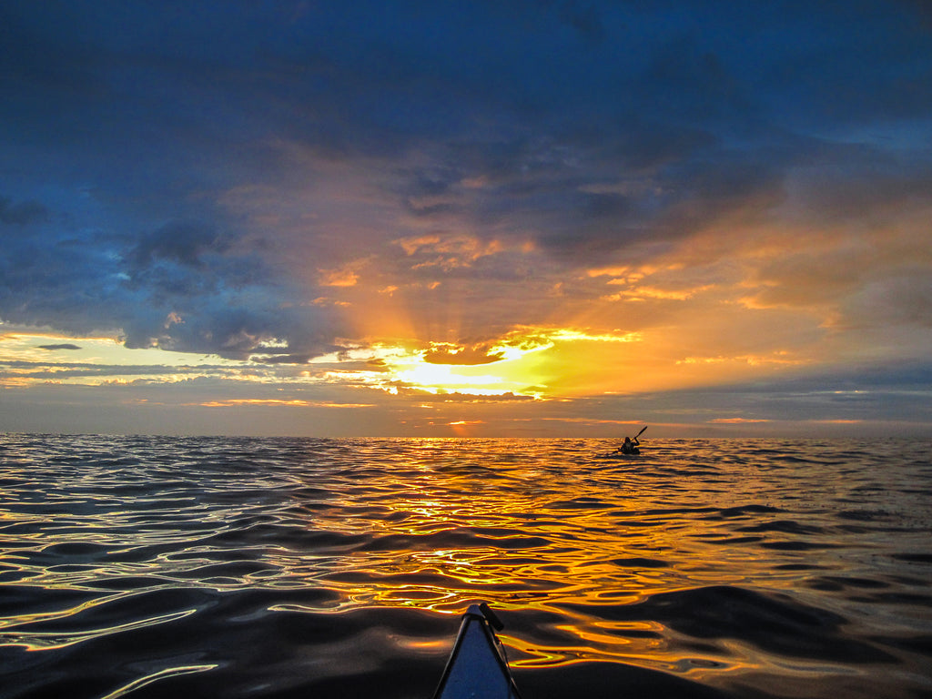 2. Paddling into the sunrise from Refuge Cove