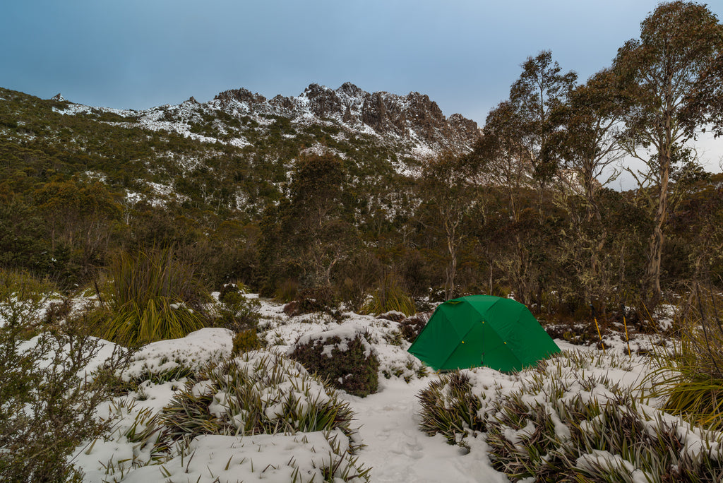 Collins Bonnet, Tasmania. Mont Dragonfly Tent. By Geoff Murray