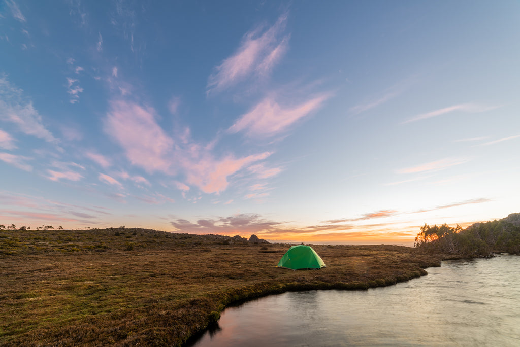 The Mont Dragonfly tent in the mountains of Tasmania. By Geoff Murray