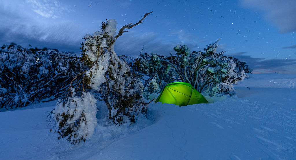 Mont Dragonfly Tent in the NSW Snowy Mountains by Mike Edmondson