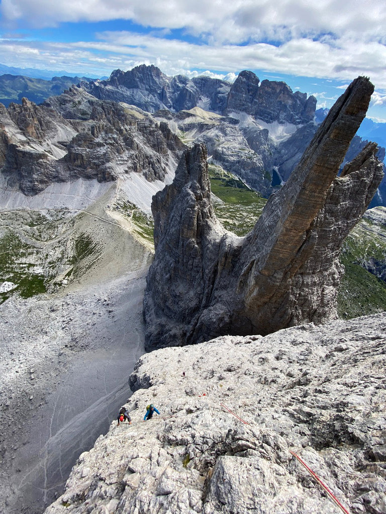 """Moving fast, simil climbing as 3 on the Dibona Arete on the Tre Cime Grande """