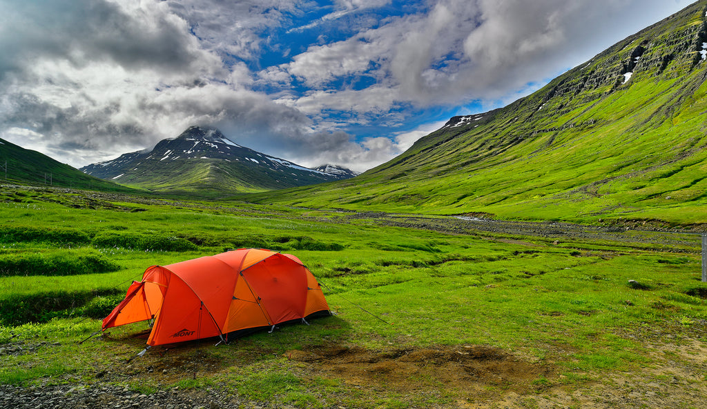 Mont Epoch Tent in Iceland, by Geoff Murray