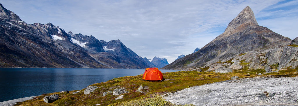 Mont Epoch tent in Greenland  by Geoff Murray