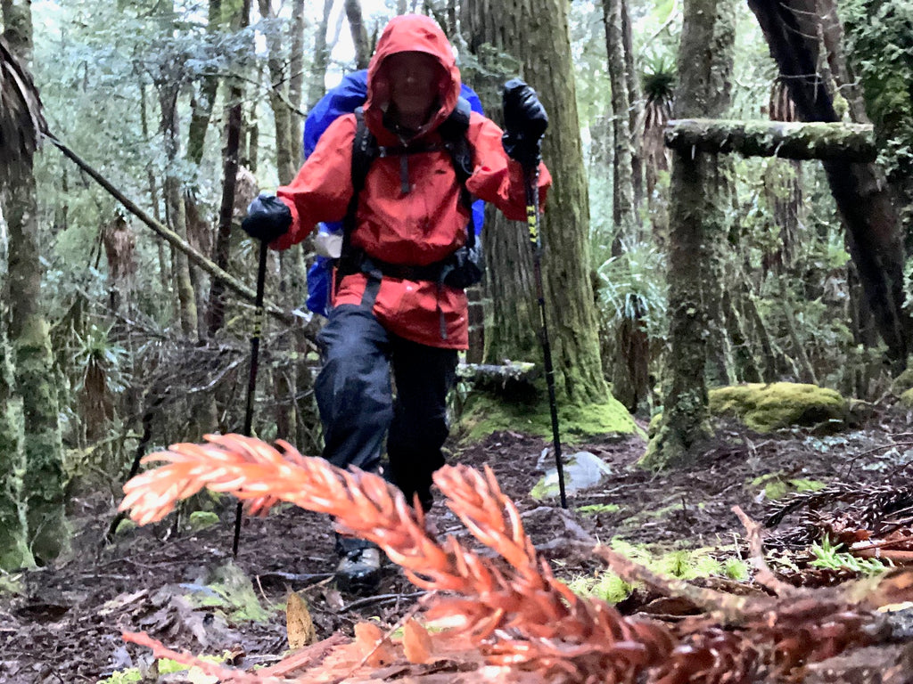 Eric Philips, tasmania, wearing Mont Odyssey Jacket and Austral Overpants