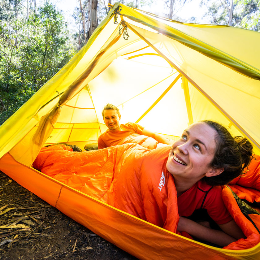 Down sleeping bags and synthetic sleeping bags
