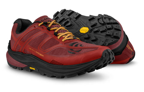 Topo MTN Racer trail running shoes red
