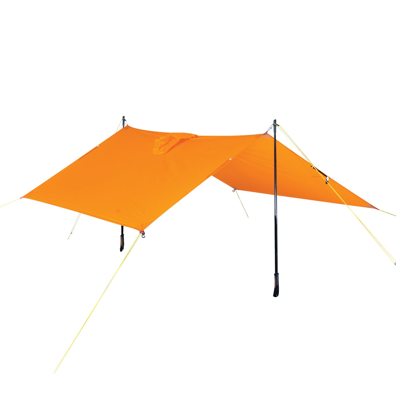 Poncho Tarp Sil/PU 15D Nylon Orange