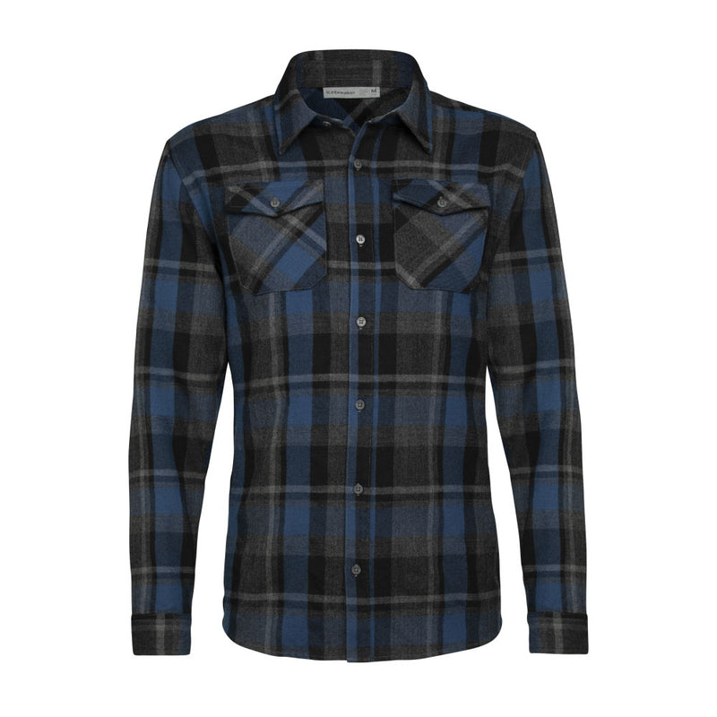 Icebreaker Lodge LS Flannel Shirt Men