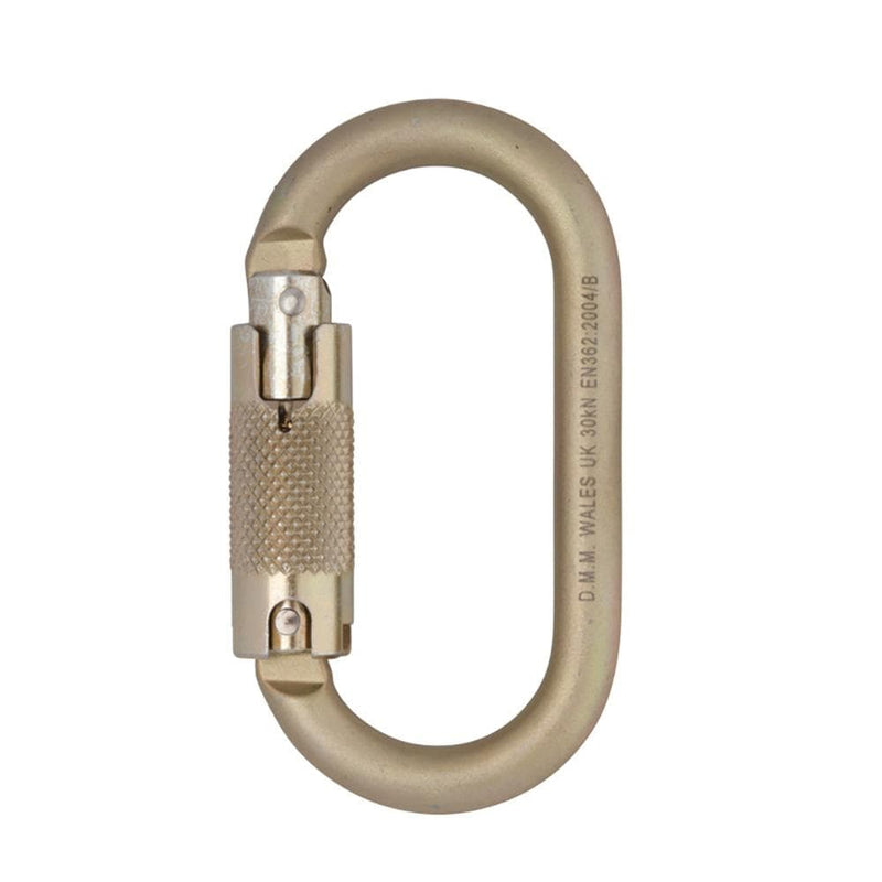 DMM Industrial DMM 10mm Steel Oval Locksafe Light Gold DMMC457