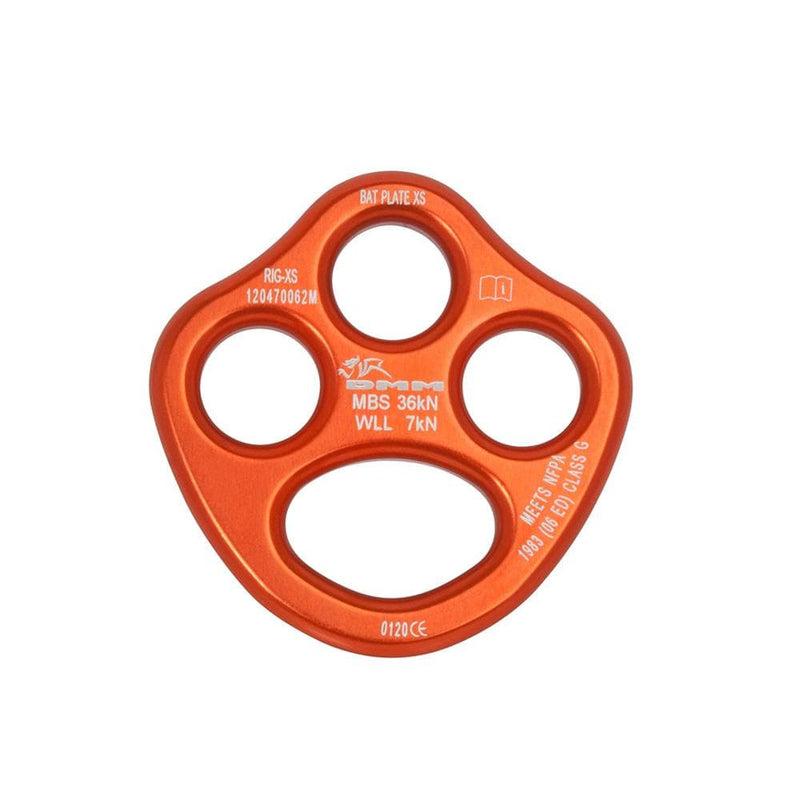 DMM Industrial DMM X Small Bat Rigging Plate Orange DMMRIG-XS-OR