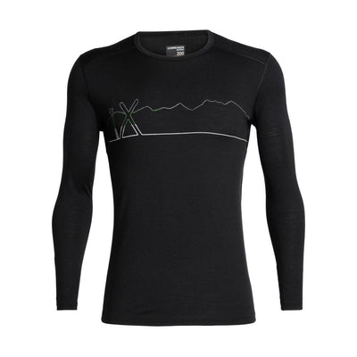 Icebreaker Other Gear Icebreaker 200 Oasis LS Crewe Single Line Ski Men LG / Black 104898001L