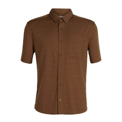Icebreaker Other Gear Icebreaker Compass SS Shirt Men Clearance LG / Tobacco/Monsoon/Dobby 103611201L