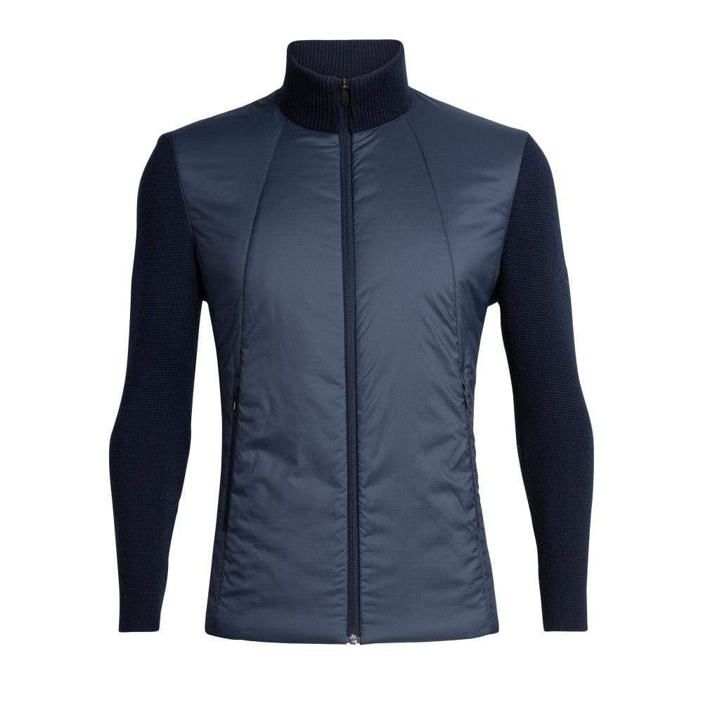 Icebreaker Other Gear Icebreaker Lumista Hybrid Sweater Jacket Men LG / Midnight Navy 104870401L